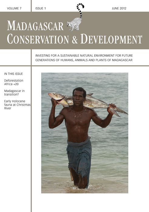 Madagascar Conservation & Development Vol7 | Iss 1 June 2012