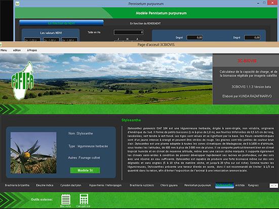 Interface du logiciel 3C-BIOVIS. <https://www.dp-spad.org/projets/acheves/biova> <http://www.cirad.mg/c3biovis/>